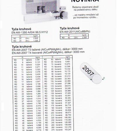 Tyče kruhové D6 -300 AW2007